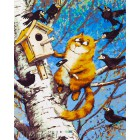 Рыжий помощник Раскраска картина по номерам акриловыми красками на холсте