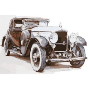 Ретро-автомобиль Раскраска картина по номерам акриловыми красками на холсте Menglei