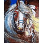 Тотем лошади Раскраска картина по номерам акриловыми красками на холсте Menglei