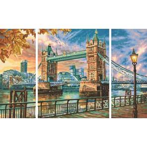 Тауэрский мост Триптих Раскраска по номерам акриловыми красками Schipper (Германия)