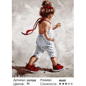 Количество цветов и сложность Маленькая модница Раскраска картина по номерам акриловыми красками на холсте