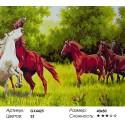 Количество цветов и сложность Ретивые кони Раскраска картина по номерам акриловыми красками на холсте