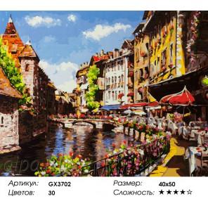 Канал летом Раскраска картина по номерам на холсте