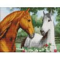 Пара лошадей Алмазная мозаика на твердой основе Iteso