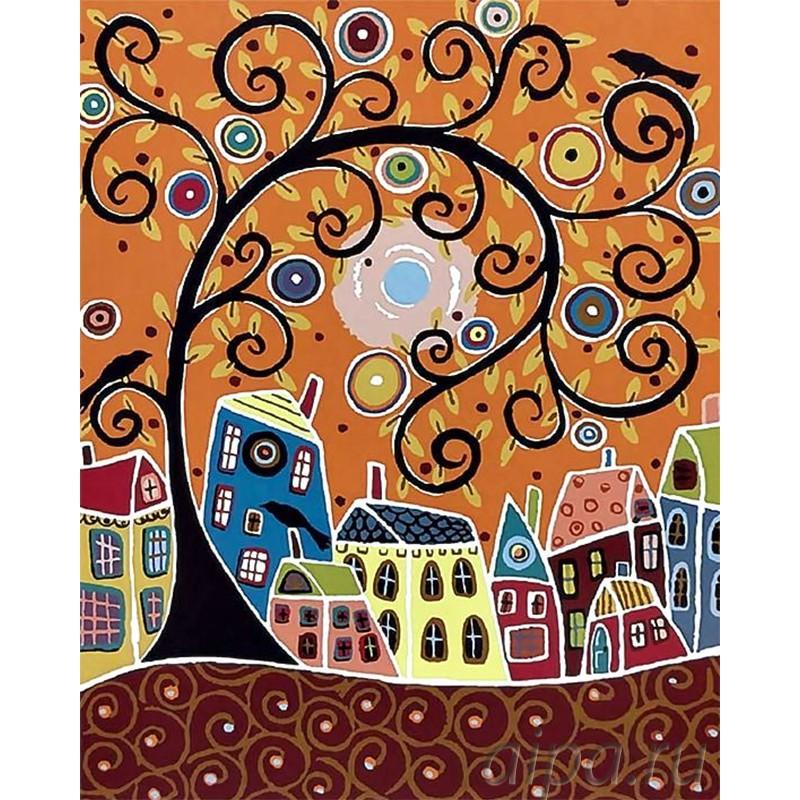 Раскраска по номерам Чудо-дерево картина 40х50 см на ...