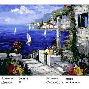 Количество цветов и сложность Отдых в Сардинии Раскраска картина по номерам акриловыми красками на холсте