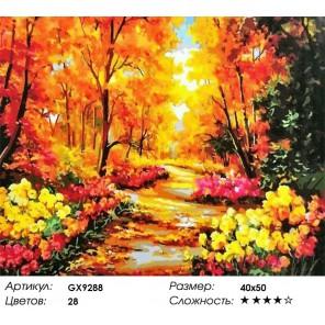 Осень в парке Кекенкоф. Нидерланды Раскраска картина по номерам на холсте