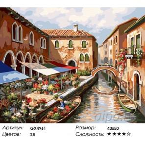 Прогулка по Венеции Раскраска картина по номерам акриловыми красками на холсте