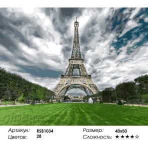 Символ Парижа Раскраска картина по номерам на холсте