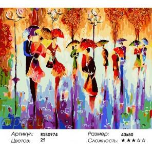 Разноцветный сентябрь Раскраска картина по номерам на холсте