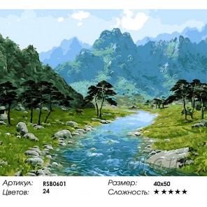 Заповедная Корея Раскраска картина по номерам на холсте