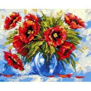 Роскошные маки Раскраска картина по номерам акриловыми красками на холсте
