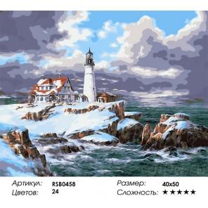 Маяк Портленда Раскраска картина по номерам на холсте