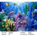 Подводный мир Раскраска картина по номерам на холсте