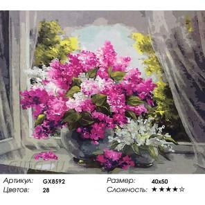 Королевская сирень Раскраска картина по номерам акриловыми красками на холсте