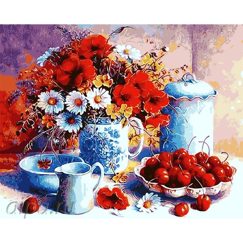 Днем, открытки с фруктами и цветами с добрым утром