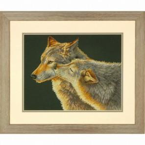 Поцелуй волка Набор для вышивания Счетный крест Dimensions