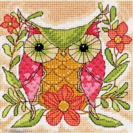 Крупно Причудливая сова Набор для вышивания Счетный крест Dimensions