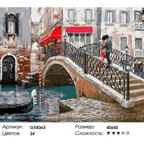 Количество цветов и сложность Венецианский мост Раскраска картина по номерам акриловыми красками на холсте