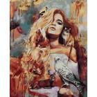 Богиня Фауна Раскраска картина по номерам акриловыми красками на холсте