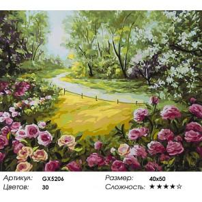 Количество цветов и сложность Кусты роз Раскраска картина по номерам акриловыми красками на холсте