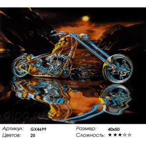 Чоппер Раскраска картина по номерам на холсте