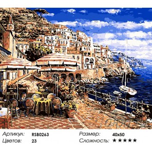 Полдень в Сан-Ремо Раскраска картина по номерам на холсте
