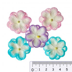 Анютины глазки пастельные Цветы бумажные для скрапбукинга, кардмейкинга Scrapberrys