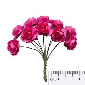 Букетик роз цвета фуксии Цветы бумажные для скрапбукинга, кардмейкинга Scrapberrys