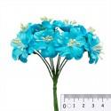 Букетик цветов гибискуса голубой Цветы бумажные для скрапбукинга, кардмейкинга Scrapberrys