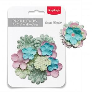 Нежность Набор бумажных цветов для скрапбукинга, кардмейкинга Scrapberrys