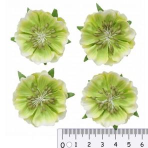 Цветы анемоны светло-зеленые Цветы бумажные для скрапбукинга, кардмейкинга Scrapberrys