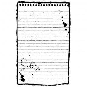Лист для записей Штамп на резиновой основе для скрапбукинга, кардмейкинга Stamperia