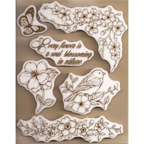 Милая весна Набор штампов на резиновой основе для скрапбукинга, кардмейкинга Stamperia