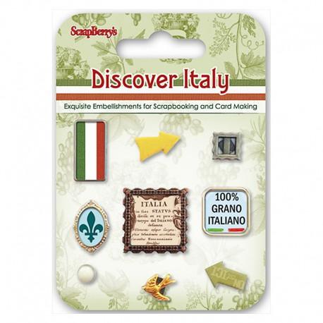 Итальянские Каникулы Набор декоративных брадсов Scrapberry's
