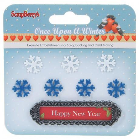 Рождество. Однажды Зимой Набор металлических украшений Scrapberry's
