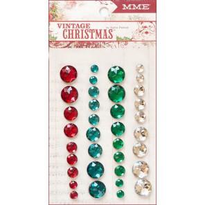 Vintage Christmas Полубусины декоративные самоклеящиеся