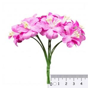 Букетик цветов гибискуса Розовый Цветы бумажные для скрапбукинга, кардмейкинга Scrapberrys