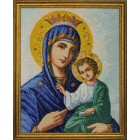 Готовая работа Иверская икона Божией Матери Алмазная вышивка мозаика Гранни