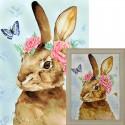 Пасхальный кролик Алмазная вышивка мозаика Гранни