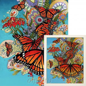 Порхание крыльев Алмазная вышивка мозаика Гранни