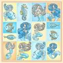 Карточки Сказки Моря Бумага односторонняя для скрапбукинга, кардмейкинга ScrapBerrys