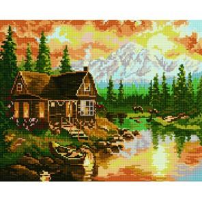 Домик в горах Алмазная мозаика вышивка на подрамнике Molly