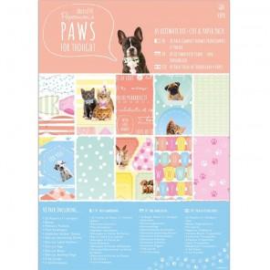 Paws for Thought А5 Набор бумаги с высеченными элементами для скрапбукинга, кардмейкинга Docrafts