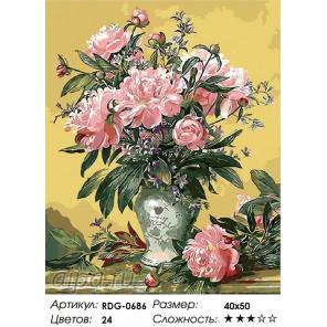 Количество цветов и сложность Великолепие пионов Раскраска картина по номерам акриловыми красками на холсте