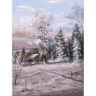 Зимний день Раскраска картина по номерам акриловыми красками на холсте Белоснежка