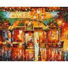 Туманное кафе Раскраска картина по номерам акриловыми красками на холсте Белоснежка