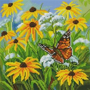Цветочная поляна Алмазная вышивка мозаика на подрамнике Белоснежка