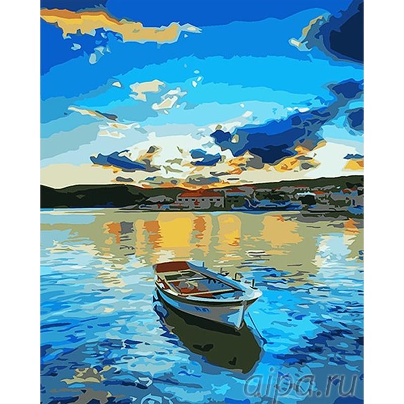 Раскраска по номерам Тихий вечер в Приано картина 40х50 см ...