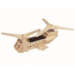 Боинг СН-47 Чинук (на солнечной энергии) 3D Пазлы Деревянные Robotime